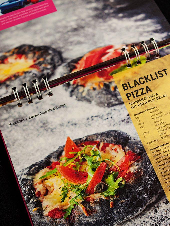 cyber kitchen - das ultimative hacker-kochbuch (deutsche-telekom): blacklist-pizza schwarze pizza mit dreierlei belag