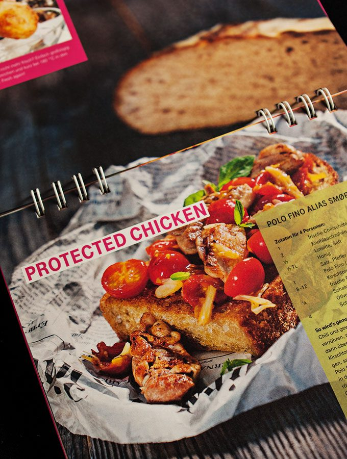cyber kitchen - das ultimative hacker-kochbuch (deutsche telekom): protected chicken polo-fino alias smoerrebroed