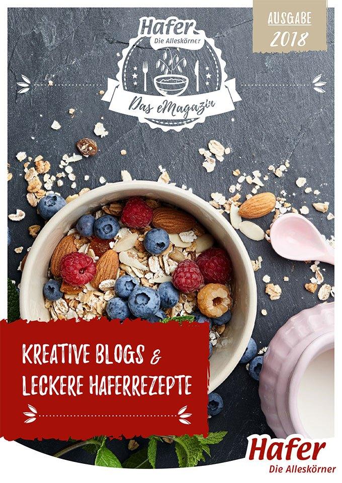 Titelbild eMagazin Hafer Die Alleskörner Das eMagazin Ausgabe 2018 - Kreative Blogs & Leckere Haferrezepte