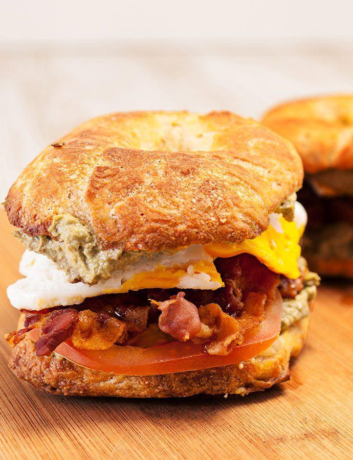 #newyork #bagel #rezepte #selbermachen #frühstück #herzhaft #bacon #ei