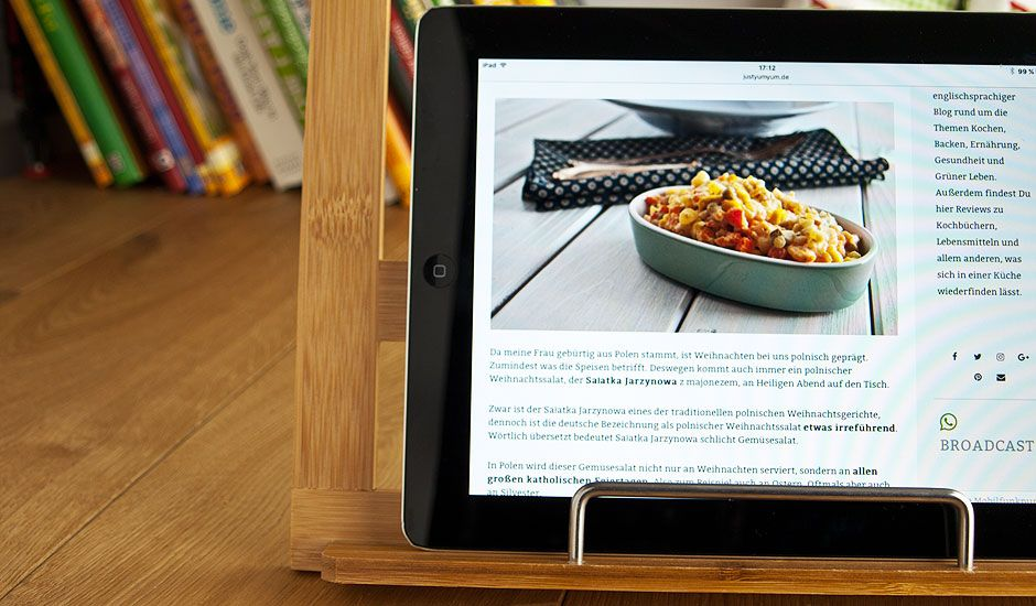 relaxdays kochbuchhalter holz kochbuchhalter naturholz bambus review mit ipad tablet